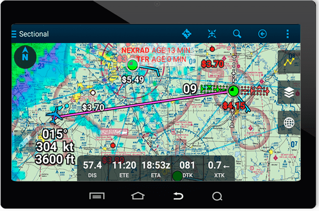Android Aviation Navigation App